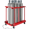 270219C Forkliftable Cylinder Storage Caddy, Mobile For 8 Cylinders