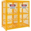 270254 Cylinder Storage Cabinet Double Door Horizontal, 16 Cylinder Capacity