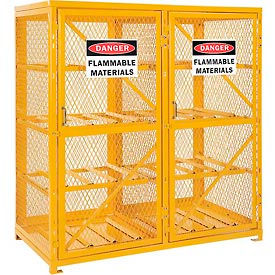 493354 Cylinder Storage Cabinet Double Door Horizontal, 16 Cylinder Capacity, Assembled