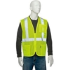 "695305 Global Industrial Class 2 Hi-Vis Safety Vest, 2"" Reflective Strips, Polyester Mesh, Lime, Size L"