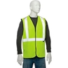 "695309 Global Industrial Class 2 Hi-Vis Safety Vest, 2"" Reflective Strips, Solid, Lime, Size 2XL/3XL"