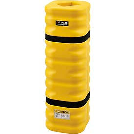"708166YL Narrow Column Protectors, 4 - 6"" Column Opening, Yellow"