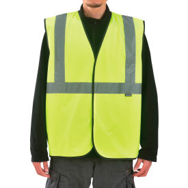 "SP69530 Global Industrial Class 2 Hi-Vis Safety Vest w/ Global Logo, 2"" Reflective Strips, Lime, L/XL"