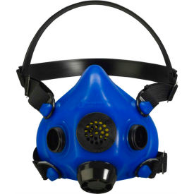 honeywell ru8500 half mask blue, medium, speech diaphragm and diverter exhalation valve cover Honeywell RU8500 Half Mask Blue, Medium, Speech Diaphragm And Diverter Exhalation Valve Cover