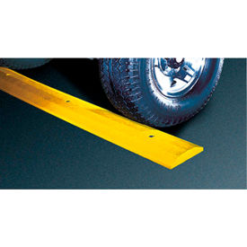 checkers sb4s-sy speed bump, plastic, standard yellow, 4 feet, with spikes