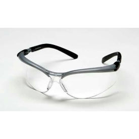 70071539624 3M; BX; Protective Eyewear, Clear Lens, Silver/Black Frame, 1 Each