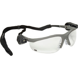 70071539962 3M; Light Vision; 2 LED Protective Eyewear, Clear Anti-Fog Lens, Gray Frame