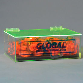 global industrial™ acrylic safety ppe dispenser, compact with cover and pad, gladtc