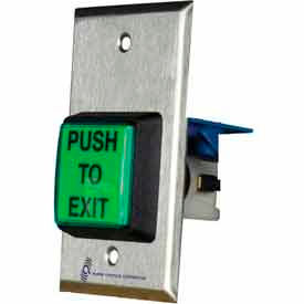 illuminated request to exit button with built-in timer Illuminated Request To Exit Button With Built-In Timer