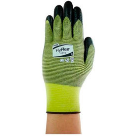 205744 HyFlex; Cut Resistant Gloves, Ansell 11-510, Black Nitrile Palm Coat, Size 7, 1 Pair