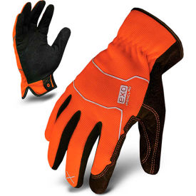 ironclad® exo2-hso-03-m hi-vis utility safety gloves, slip-on, orange, 1 pair, m Ironclad® EXO2-HSO-03-M Hi-Vis Utility Safety Gloves, Slip-On, Orange, 1 Pair, M