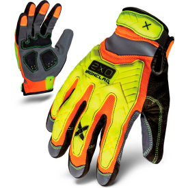 ironclad® exo2-hzi-05-xl hi-vis impact gloves, orange/yellow, 1 pair, xl Ironclad® EXO2-HZI-05-XL Hi-Vis Impact Gloves, Orange/Yellow, 1 Pair, XL