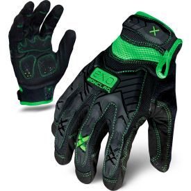 ironclad® exo2-mig-06-xxl motor impact gloves, black/green, 1 pair, 2xl Ironclad® EXO2-MIG-06-XXL Motor Impact Gloves, Black/Green, 1 Pair, 2XL