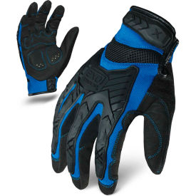 ironclad® exo2-migb-04-l motor impact gloves, black/blue, 1 pair, l Ironclad® EXO2-MIGB-04-L Motor Impact Gloves, Black/Blue, 1 Pair, L