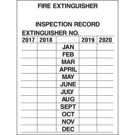 "brady® 103632 fire extinguisher inspection record tags, 3""h x 2-1/4""w, 10/pkg, 2-1/4""w x 3""h Brady® 103632 Fire Extinguisher Inspection Record Tags, 3""H X 2-1/4""W, 10/Pkg, 2-1/4""W x 3""H"