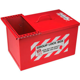 "brady® 105717 large combined lock storage and group lockout box, steel, 10-1/2"" w x 9""h Brady® 105717 Large Combined Lock Storage and Group Lockout Box, Steel, 10-1/2"" W X 9""H"