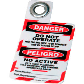 brady® 105724 padlock tag- danger do not operate, bilingual engligh/spanish, polyester, 1/each Brady® 105724 Padlock Tag- Danger Do Not Operate, Bilingual Engligh/Spanish, Polyester, 1/Each