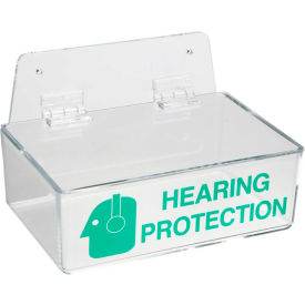 "brady® 2019l hearing dispenser with lid, acrylic, 9""w x 3""h Brady® 2019L Hearing Dispenser With Lid, Acrylic, 9""W x 3""H"