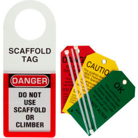 "brady® 48112 scaffold status holder and tags, plastic/polyester, 3""w x 5-3/4""h Brady® 48112 Scaffold Status Holder and Tags, Plastic/Polyester, 3""W x 5-3/4""H"