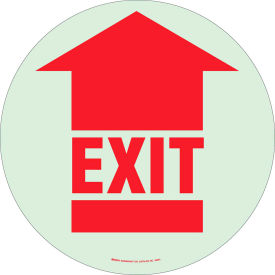 "brady® 49061 bradyglo floor exit sign, red on glow in the dark, polyester, 17""dia Brady® 49061 BradyGlo Floor Exit Sign, Red on Glow in the Dark, Polyester, 17""Dia"