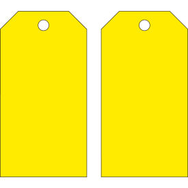 "brady® 65373 blank accident prevention tag, with grommet, yellow, polyester, 3""w x 5-3/4""h Brady® 65373 Blank Accident Prevention Tag, with Grommet, Yellow, Polyester, 3""W x 5-3/4""H"