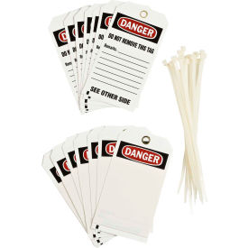 "brady® 76192 danger accident prevention tag with overlaminate, polyester, 3""w x 5-3/4""h Brady® 76192 Danger Accident Prevention Tag With Overlaminate, Polyester, 3""W x 5-3/4""H"