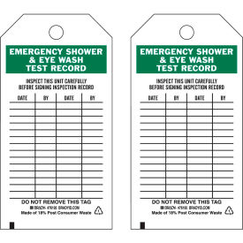 "brady® 76195 emergency shower & eye wash test record tag, polyester, 3""w x 5-3/4""h, 25/pkg Brady® 76195 Emergency Shower & Eye Wash Test Record Tag, Polyester, 3""W x 5-3/4""H, 25/Pkg"