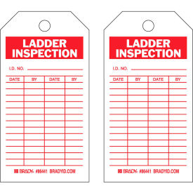 "brady® 86441 ladder inspecton tag, 2 sided, 10/pkg, hd polyester encapsulated, 3""w x 5-3/4""h Brady® 86441 Ladder Inspecton Tag, 2 Sided, 10/Pkg, HD Polyester Encapsulated, 3""W x 5-3/4""H"