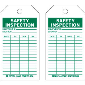 "brady® 86442 safety inspecton tag, 2 sided, 10/pkg, hd polyester encapsulated, 3""w x 5-3/4""h Brady® 86442 Safety Inspecton Tag, 2 Sided, 10/Pkg, HD Polyester Encapsulated, 3""W x 5-3/4""H"