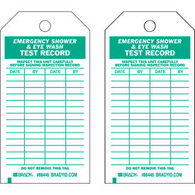 "brady® 86446 emergency shower & eye wash test record tag, 25/pkg, hd polyester, 3""w x 5-3/4""h Brady® 86446 Emergency Shower & Eye Wash Test Record Tag, 25/Pkg, HD Polyester, 3""W x 5-3/4""H"