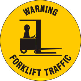 "brady® 97615 floor warning forklift traffic sign, yellow/black, anit-skid, vinyl, 17""dia Brady® 97615 Floor Warning Forklift Traffic Sign, Yellow/Black, Anit-skid, Vinyl, 17""Dia"