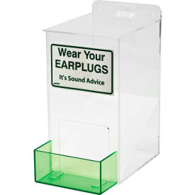 "brady® epd small ear plug dispenser, acrylic, 6""w x 13""h Brady® EPD Small Ear Plug Dispenser, Acrylic, 6""W x 13""H"