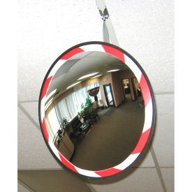 "HVOC2600 Convex Safety Mirrors - High-Visibility Acrylic - 26"" Dia. - Outdoor"