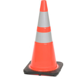 "03-500-10 28"" Traffic Cone, Reflective, Orange W/ Black Base, 7bs, 03-500-10"