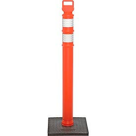 "03-734RBC 45"" Orange Ez Grab Delineator Post, Flared With 10lb Base"
