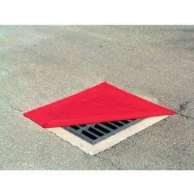 "Chemtex OIL812 Drain Protector, Square, Red, 18"" x 18"""