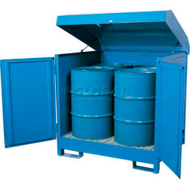 "K17-3503 Hazmat Outdoor 4 Drum Storage Station w/Containment, 56""W x 56""D x 55""H"