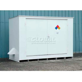 "denios n-series 14w x 5 10""d x 8 2""h, non-combustible outdoor storage building for 10 drums Denios N-Series 14W x 5 10""D x 8 2""H, Non-Combustible Outdoor Storage Building For 10 Drums"