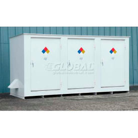 "denios n-series 19 8""w x 5 10""d x 5 8""h, non-combustible outdoor storage building for 14 drums Denios N-Series 19 8""W x 5 10""D x 5 8""H, Non-Combustible Outdoor Storage Building For 14 Drums"