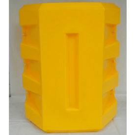 "poly structural column protector, 16-1/4"" square opening, yellow, cp-16-14 Poly Structural Column Protector, 16-1/4"" Square Opening, Yellow, CP-16-14"