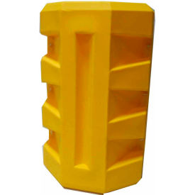 "CP-6 Poly Structural Column Protector, 6-1/4"" Square Opening, Yellow"