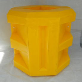 "poly structural short column protector, 8-1/4"" square opening, yellow, cpsh-8-14 Poly Structural Short Column Protector, 8-1/4"" Square Opening, Yellow, CPSH-8-14"