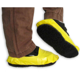 13032 PAWS Vinyl Stripping Shoe Covers, Mens, Yellow, Size 8-11, 1 Pair