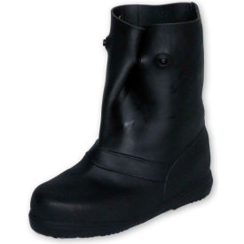 "treds 12"" rubber overboots, mens, black, size 17-19, 1 pair TREDS 12"" Rubber Overboots, Mens, Black, Size 17-19, 1 Pair"