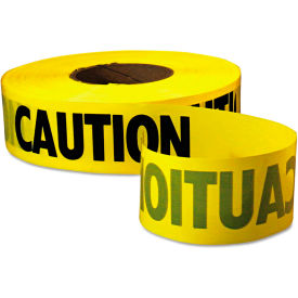 "empire® caution barricade tape, 3"" x 1000 ft, yellow/black Empire® Caution Barricade Tape, 3"" x 1000 ft, Yellow/Black"