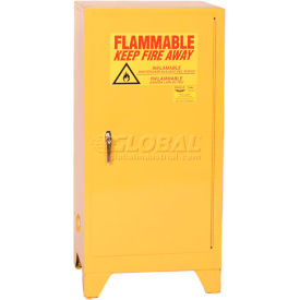 1906LEGS Eagle Flammable Liquid Tower; Safety Cabinet with Manual Close - 16 Gallon