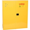 1955 Eagle Drum Storage Cabinet 110 Gallon Manual Close Vertical Flammable Yellow