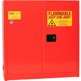 1976-RED Eagle Paint/Ink Safety Cabinet with Manual Close - 24 Gallon Red
