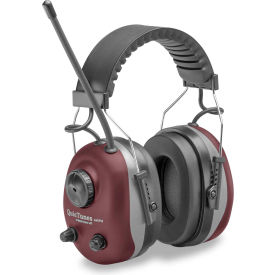 elvex® quietunes™ am/fm stereo earmuff, over-the-head, nrr 25, gray/burgundy Elvex® QuieTunes™ AM/FM Stereo Earmuff, Over-The-Head, NRR 25, Gray/Burgundy