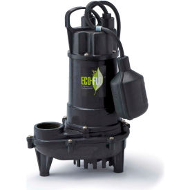 eco-flo ecd33w submersible sump pump, cast iron, 1/3 hp, 3300 gph Eco-Flo ECD33W Submersible Sump Pump, Cast Iron, 1/3 HP, 3300 GPH